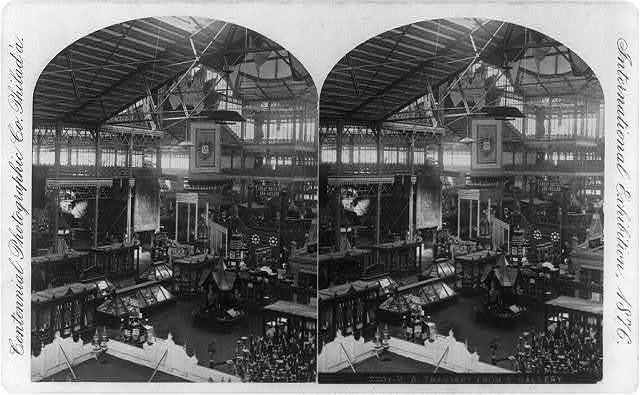 International exhibition, [Philadelphia]: M.B. Transept from S. Gallery