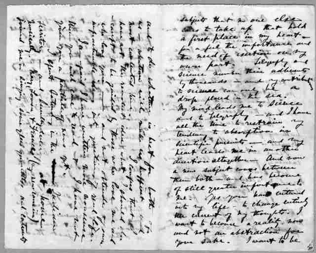 Letter from Alexander Graham Bell to Mabel Hubbard Bell, 1876