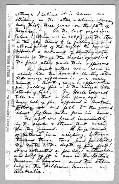 Letter from Alexander Graham Bell to Mabel Hubbard Bell, August 1, 1876