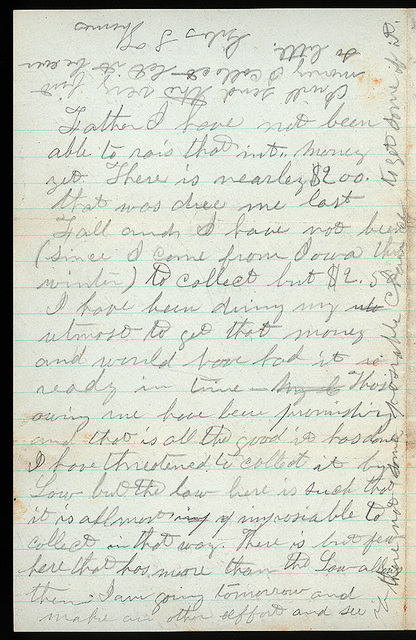 Letter from Giles S. Thomas to Thomas Family, April 1, 1876