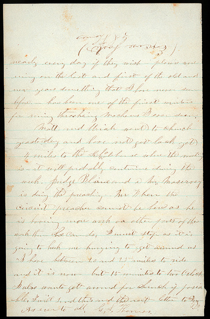 Letter from Giles S. Thomas to Thomas Family, January 3, 1876