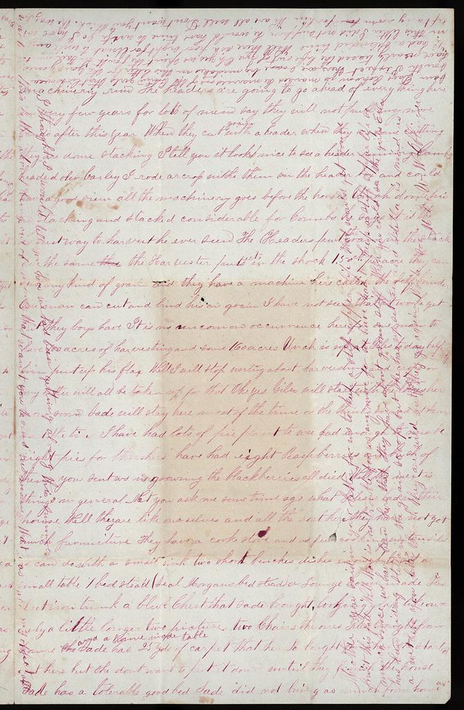 Letter from Mattie V. Oblinger to Thomas Family, August 8, 1876