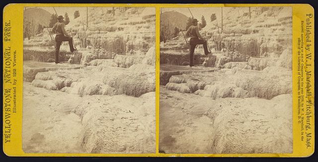 Mammoth Hot Springs Series. General View of Upper Basins