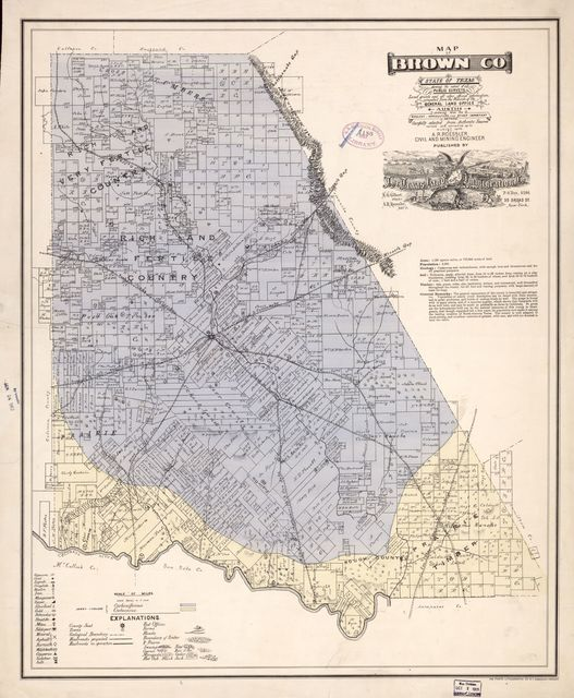 Map of Brown Co., state of Texas : showing the extent of all public surveys, land grants and all other official information compiled from the records of the General Land Office at Austin...  /