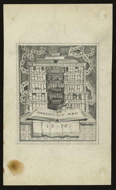 [One of four bookplate designs for English author, Mrs. G. Linnaeus Banks]