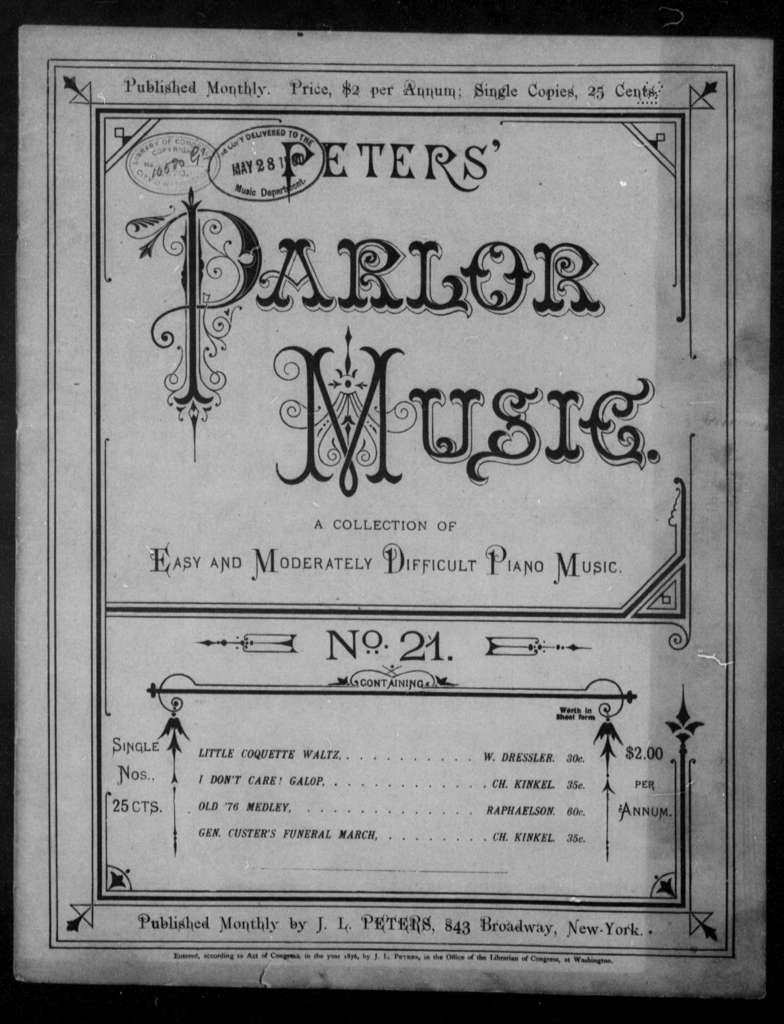 Peters' Parlor Music, no. 21