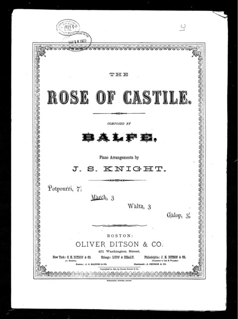 Rose of Castile march