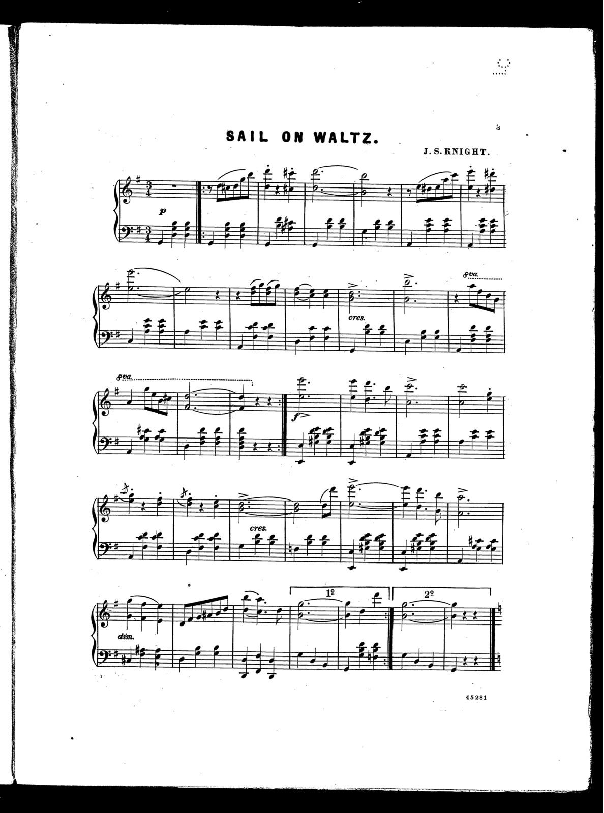 Sail on waltz