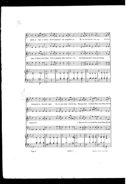 Sweet spirit of song, quartette