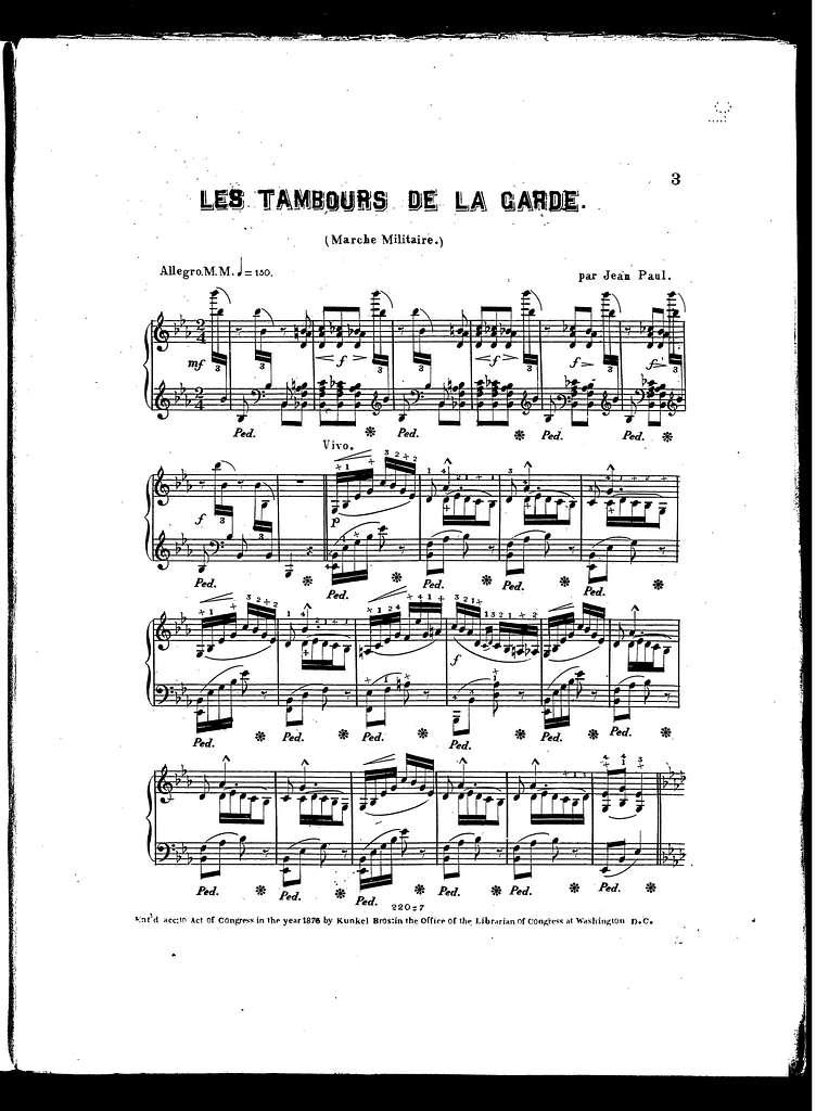 Tambours de la garde, Les