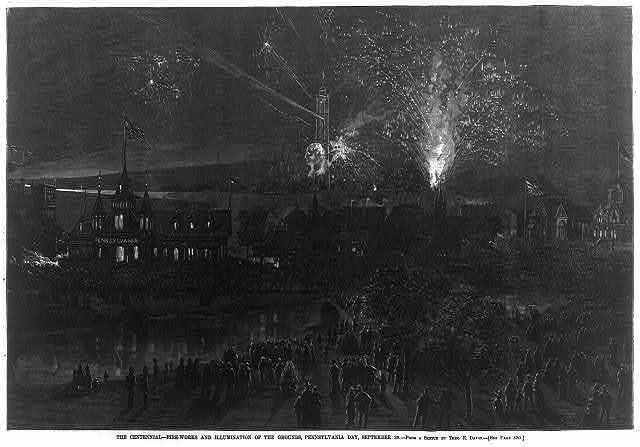 The Centennial Fireworks [Philadelphia]