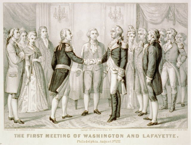 The first meeting of Washington and Lafayette: Philadelphia, August 3rd 1777