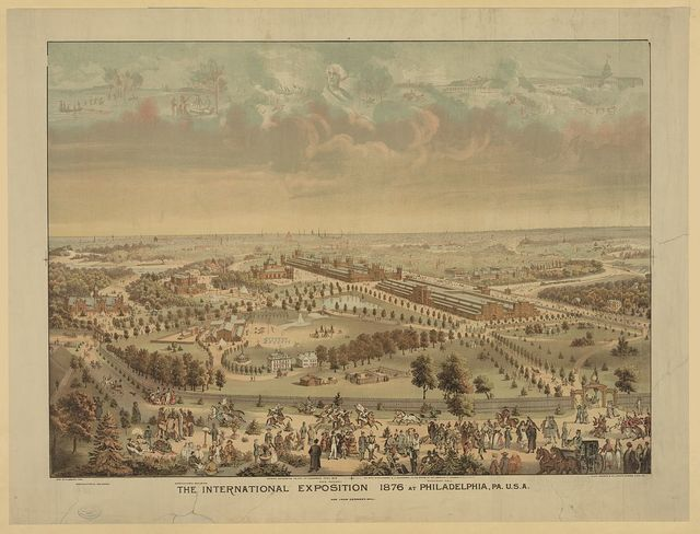 The International Exposition 1876 at Philadelphia, Pa. U.S.A. / Geo. H. Ellsbury, del. ; Chas. Shober & Co., Prop's Chicago Lith'g Co.