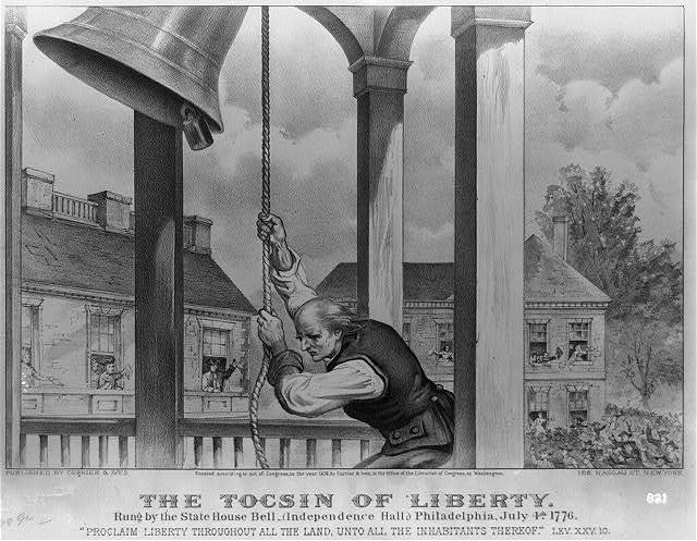 The Tocsin of liberty: rung by the state house bell, (Independence Hall;) Philadelphia, July 4th. 1776