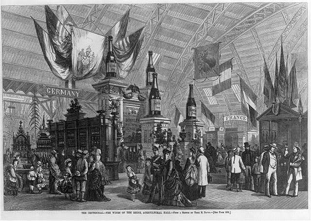 [The wines of the Rhine in Agricultural Hall at the centennial, Philadelphia 1876]