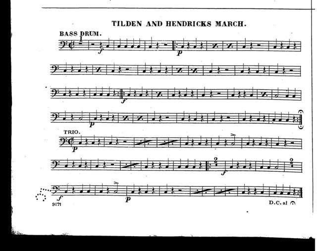 Tilden and Hendricks march