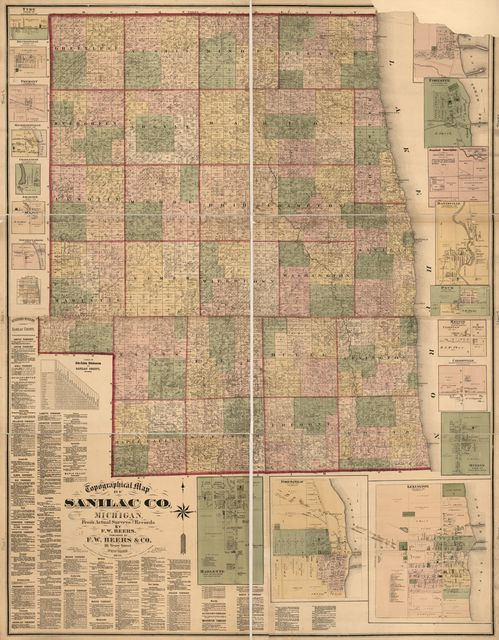 Topographical map of Sanilac Co., Michigan : from actual surveys and records /