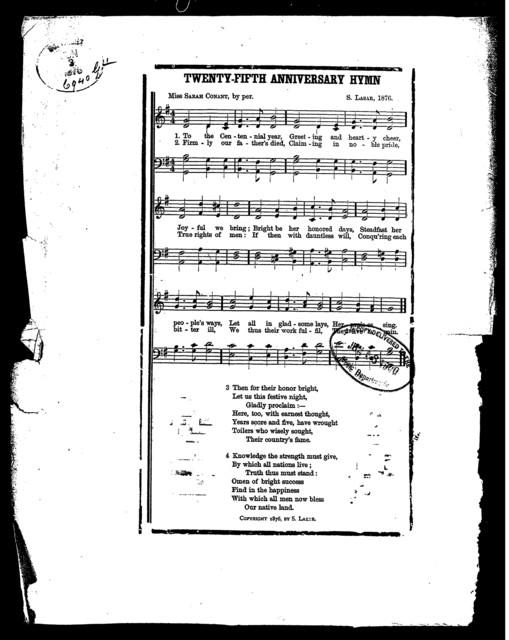Twenty-fifth anniversary hymn