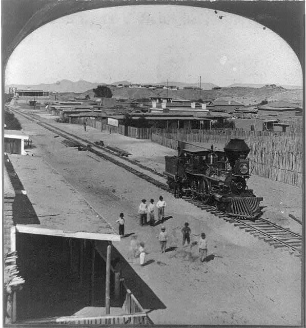 Arrival of the first locomotive in Arizona
