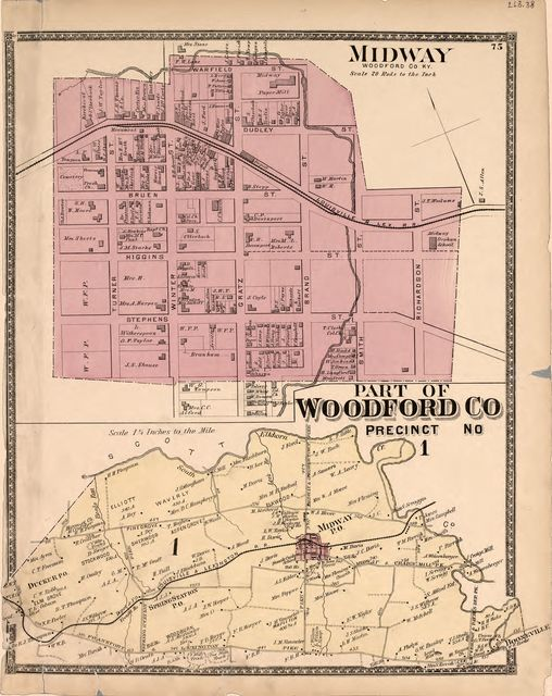 Atlas of Bourbon, Clark, Fayette, Jessamine and Woodford Counties, Ky.