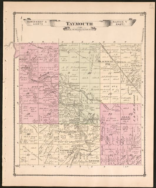 Atlas of Saginaw Co., Michigan : from recent and actual surveys and records /