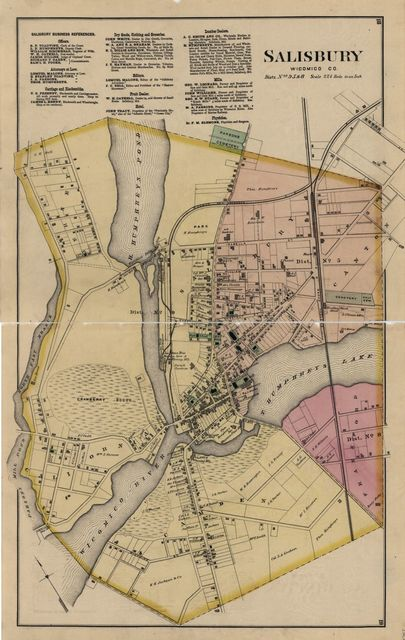 Atlas of Wicomico, Somerset & Worcester countries, Maryland. Compiled, drawn and published from actual surveys.