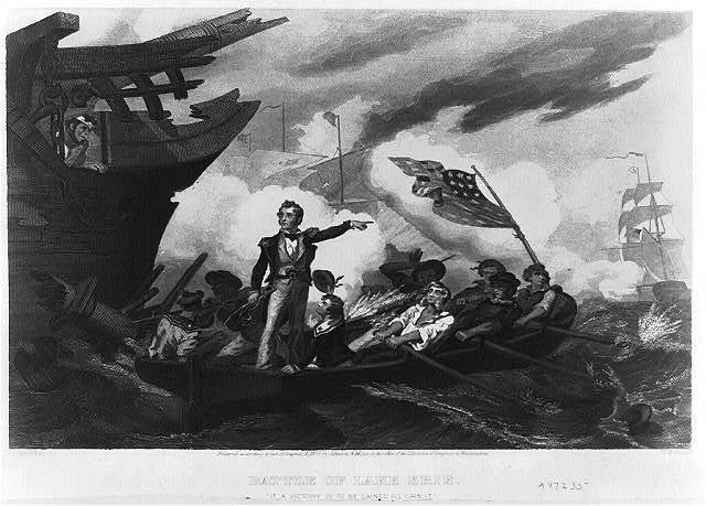 Battle of Lake Erie / painted by W.H. Powell.