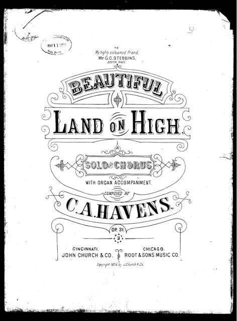 Beautiful land on high