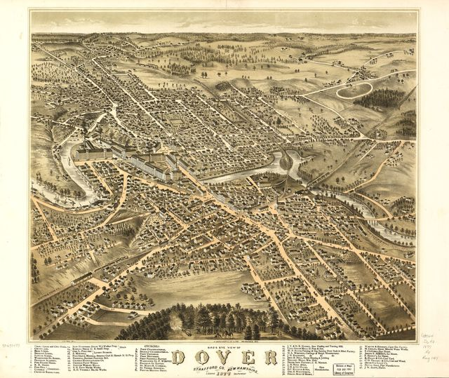 Bird's eye view of Dover, Strafford Co., New Hampshire 1877.