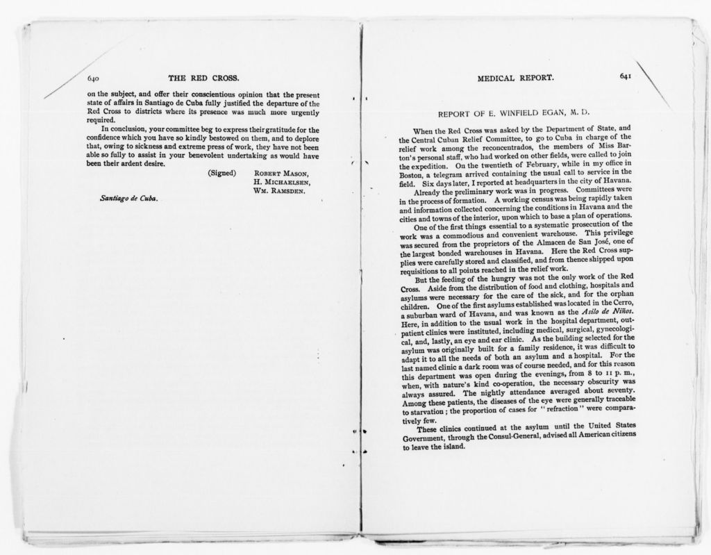 Clara Barton Papers: Speeches and Writings File, 1849-1947; Books; The Red Cross; Printed copy, including annotations, 1877-1899