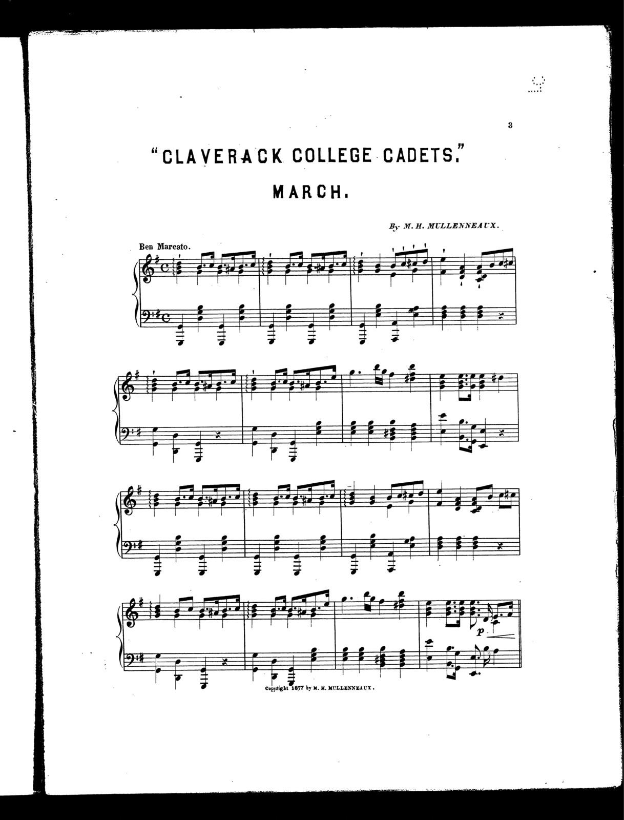 Claverack college cadets