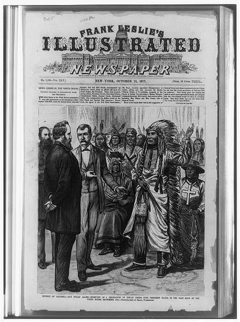 District of Columbia - our Indian allies - interview of a delegation of Indian chiefs with President Hayes, in the East Room of the White House