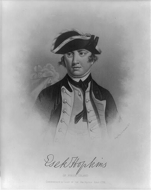 Esek Hopkins of Rhode Island, commander in chief of the American navy 1776 / eng'd by J.C. Buttre, N.Y.