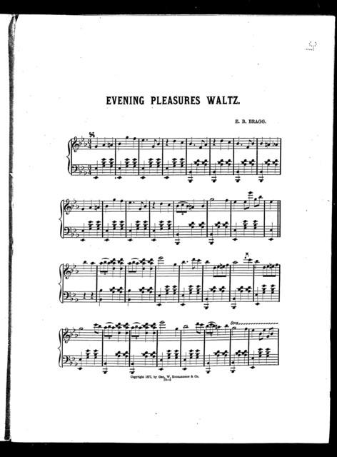 Evenings pleasures waltz