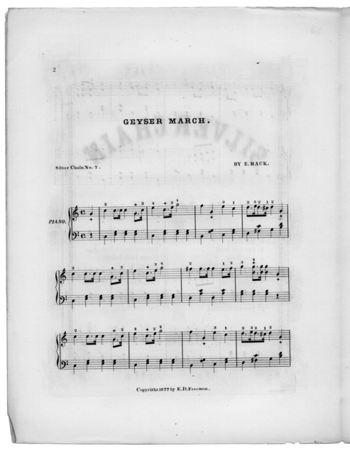 Geyser march