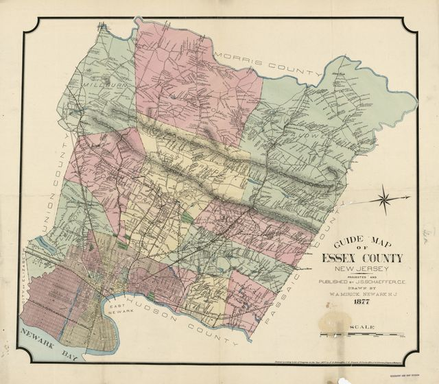 Guide map of Essex County, New Jersey /