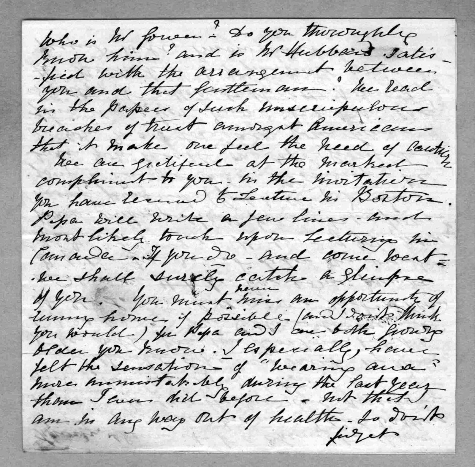 Letter from Eliza Symonds Bell to Alexander Graham Bell, April 23, 1877