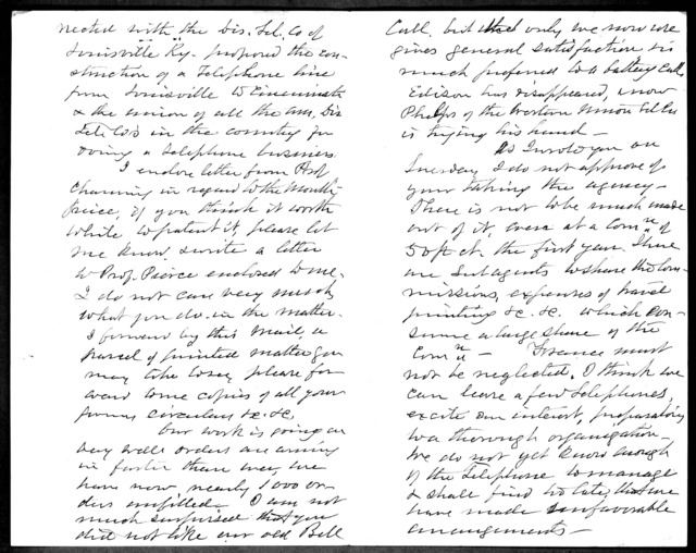 Letter from Gardiner Greene Hubbard to Alexander Graham Bell, November 16, 1877