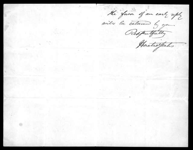 Letter from Horatio Yeates to Alexander Graham Bell, August 16, 1877