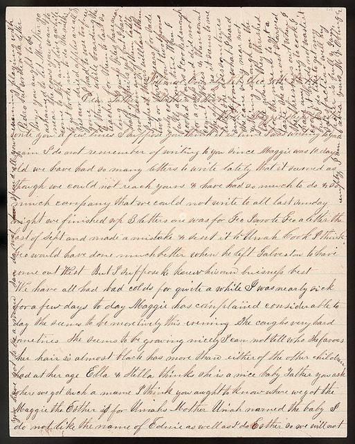 Letter from Uriah W. Oblinger and Mattie V. Oblinger to Thomas Family, December 30, 1877