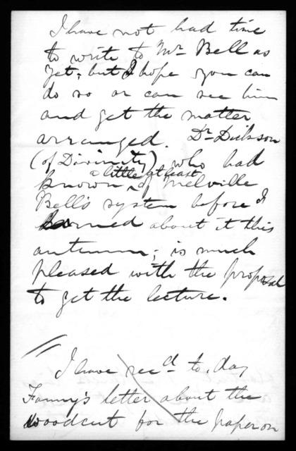 Letter from William Thomson (Baron Kelvin) to Alexander Graham Bell, October 1877