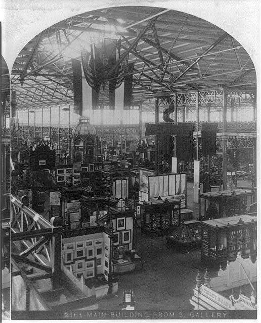 Main Building from South Gallery at the Interational Exhibition, Phila., Pa., 1876 - [interior]