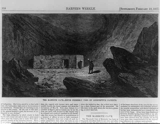 Mammoth Cave, Kentucky: House formerly used by consumptive patients