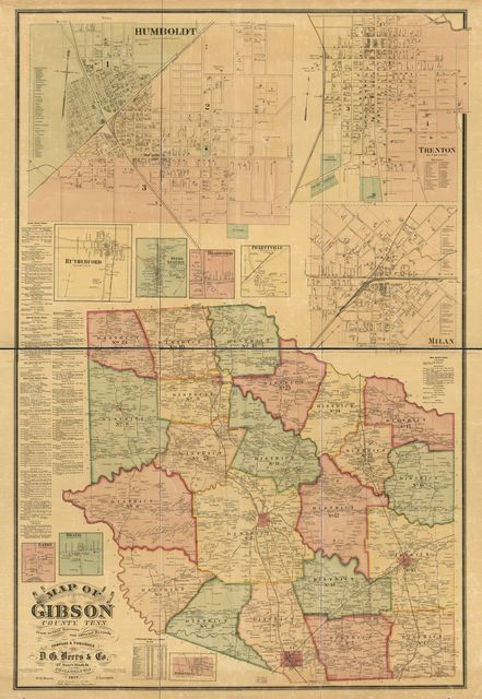 Map of Gibson County, Tenn. : from actual surveys and official records /