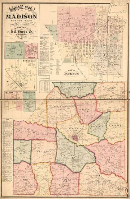Map of Madison County, Tenn. : from actual surveys and official records /