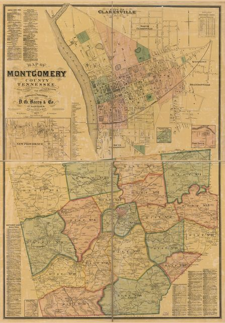 Map of Montgomery County, Tennessee : from actual surveys and official records /