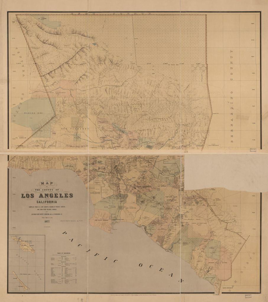 Map of the County of Los Angeles, California : compiled from U.S. land surveys, records of private surveys, and from other reliable sources /