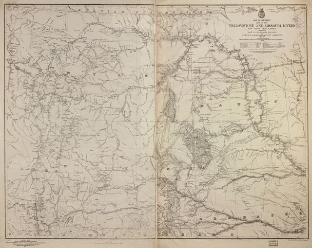 Map of the Yellowstone and Missouri Rivers and their tributaries explored by Capt. W. F. Raynolds, Topl. Engrs., and 1st Lieut. H. E. Maynadier, 10th Infy. Assistant, 1859-60 /