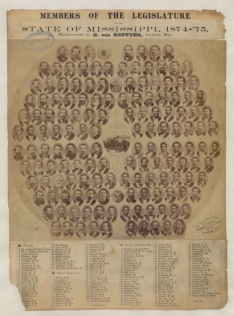 Members of the Legislature, State of Mississippi, 1874-'75 / photographed by E. Von Seutter, Jackson, Miss.