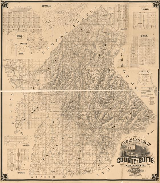 Official map of the County of Butte, California : carefully compiled from actual surveys /